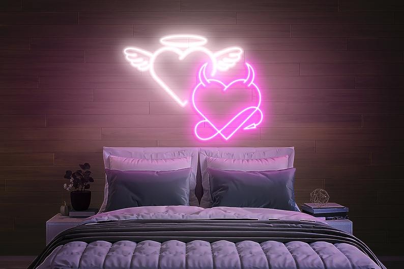 "Led Neon Sign ""Angel and Devil """