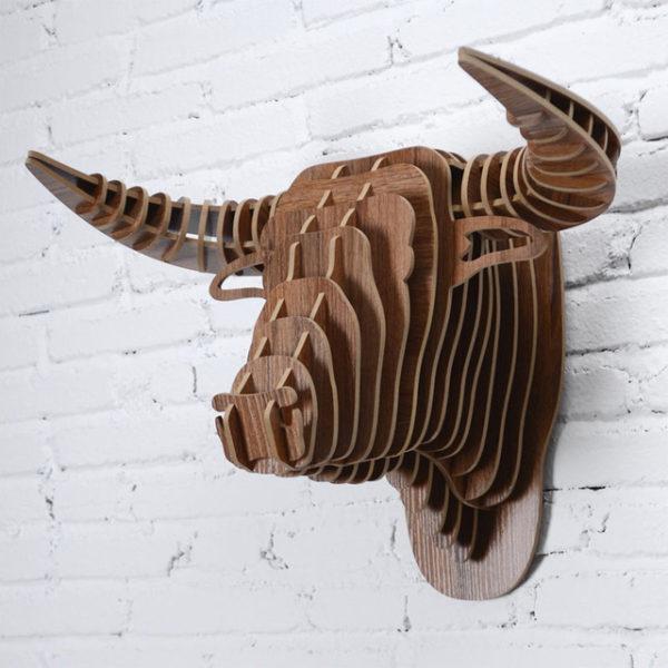 Đầu Trâu gỗ Treo Tường  BL374830