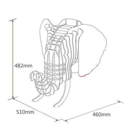 Đầu voi gỗ trang trí ấn tượng BL485146