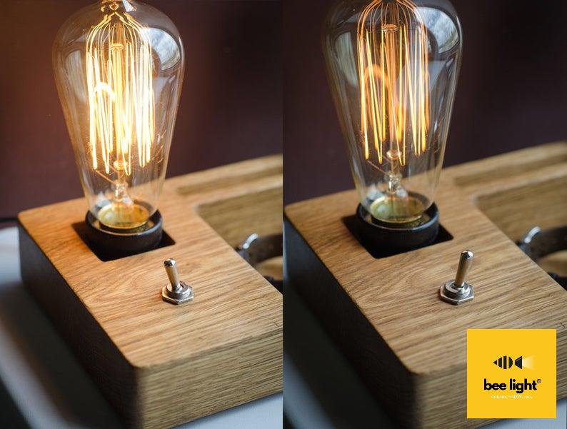 Đèn gỗ để bàn LS271405 - Vintage