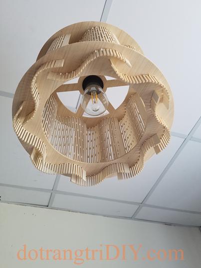 Đèn gỗ trang trí LS001