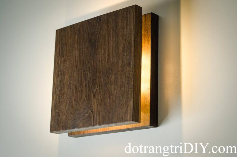 Đèn gỗ trang trí ốp tường LS215215