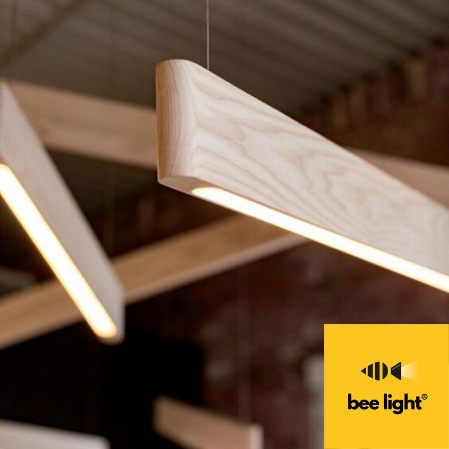 Đèn gỗ trang trí thả trần dạng thanh LED LS 12011