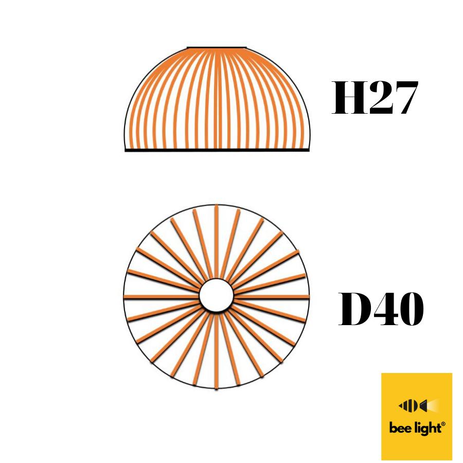 Đèn gỗ thả trần vòng xoáy LS4027