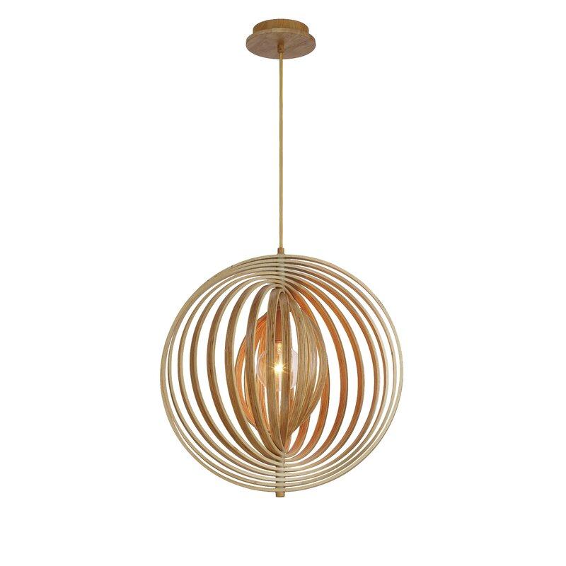 Đèn gỗ thả trần vòng xoáy tròn hình học độc đáo LS4545