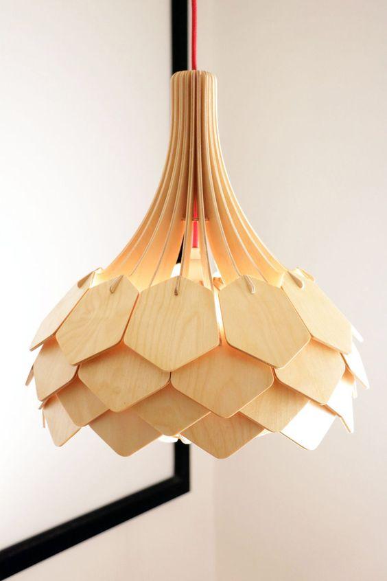 Đèn gỗ trang trí tạo hình bông hoa LS3640