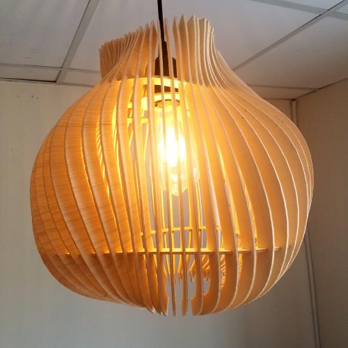 Đèn gỗ trang trí LS 3535  sóng 3D
