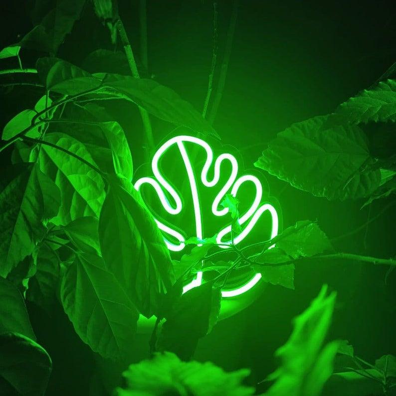 """Led Neon Sign """" Monstera Leaf """""""