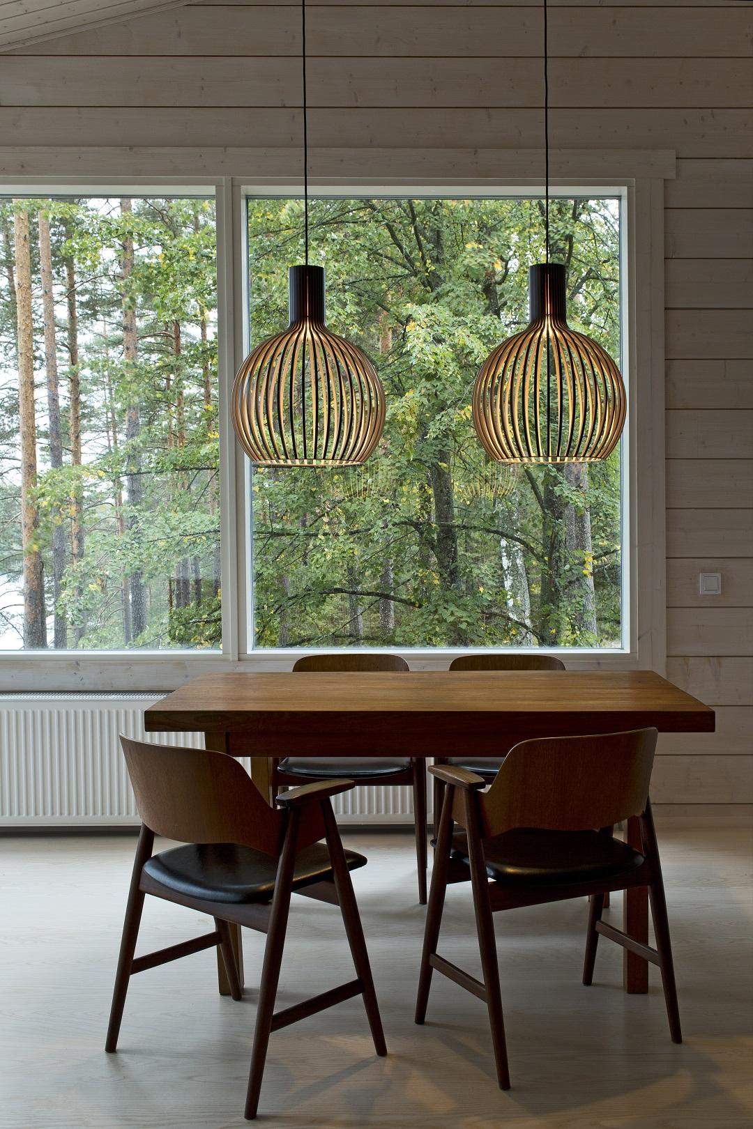 Đèn gỗ trang trí thả trần LS3547