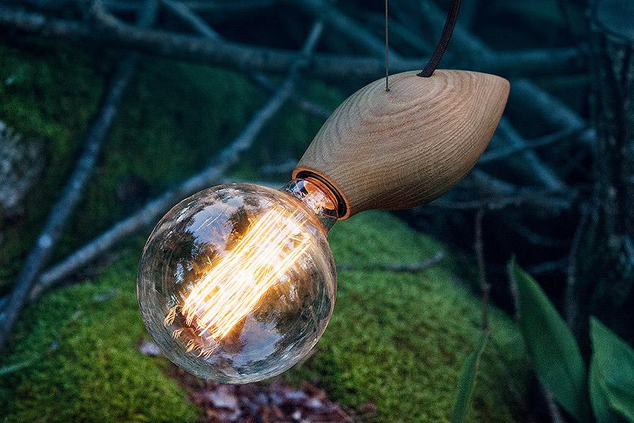 Đèn gỗ con Ong  thả trần trang trí BEE2020