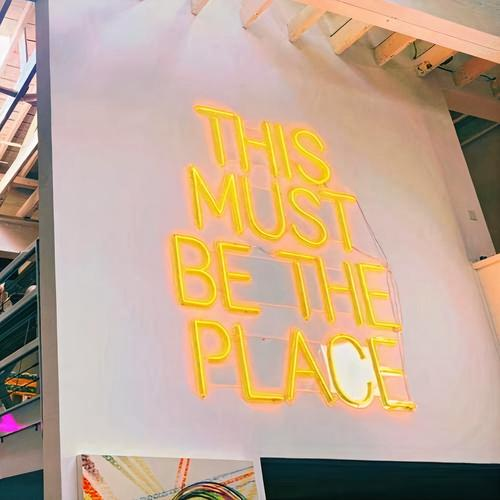 """Led Neon Sign """"'THIS MUST BE THE PLACE ' NEON SIGN ''"""