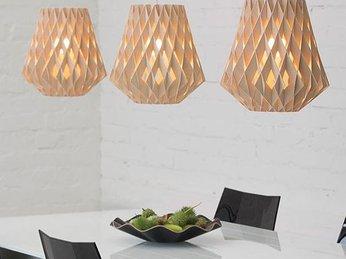10 mẫu đèn trang trí gỗ cho phòng ăn đẹp lung linh