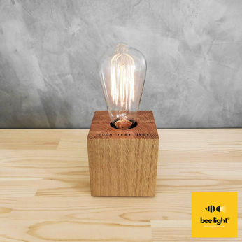 Đèn gỗ để bàn khối lập phương vuông LS1010