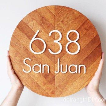 Biển số nhà /số phòng bằng gỗ