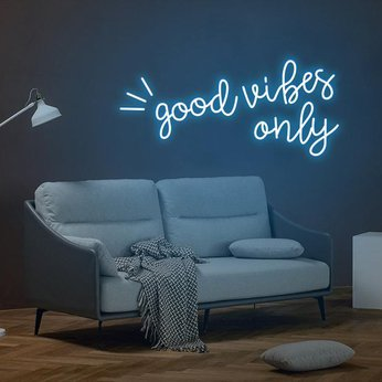 Led Neon Sign good vibes only