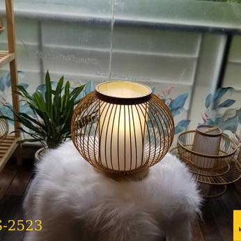 Đèn bàn mây tre đan hình quả cầu tròn LS2523