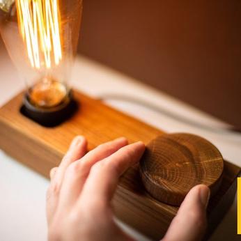 Đèn gỗ để bàn LS1958-Vintage