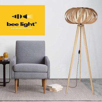 Đèn đứng gỗ venner trang trí