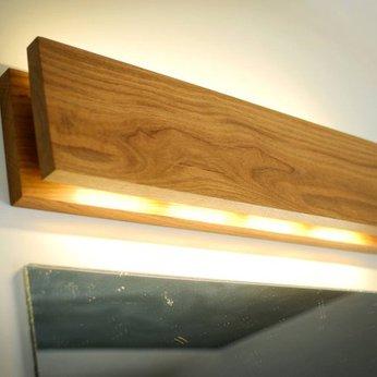 đèn gỗ trang trí ốp tường chữ nhật LS501207