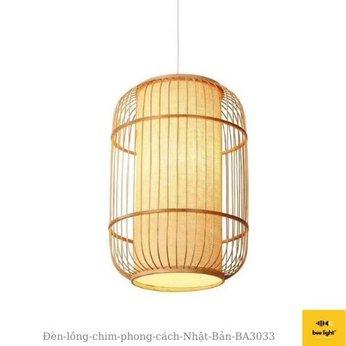 Đèn Mây Tre: Đèn lồng chim phong cách Nhật Bản BA3033 trang trí phòng trà,  quán coffee