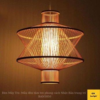 Đèn Mây Tre: Mẫu đèn tăm tre phong cách Nhật Bản trang trí  BAN5050