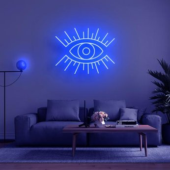 Led Neon Sign Mắt'  . 'EYE' NEON SIGN