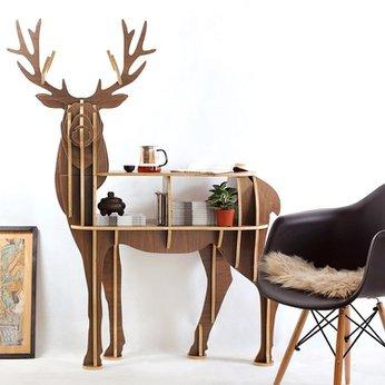 Kệ gỗ trang trí hình Hưu đẹp đa chức năng