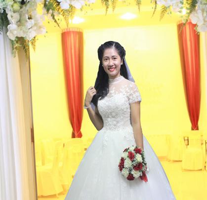 Áo cưới Voan Trắng thiết kế nhẹ nhàn tinh tế