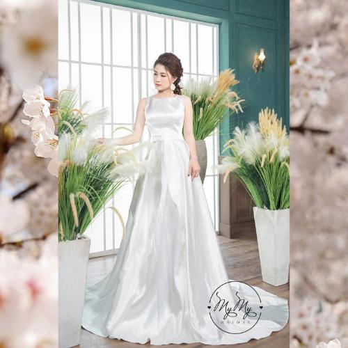 Áo cưới My My Thiết kế ánh bạc xoè sang trọng