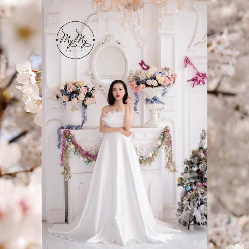 Áo cưới My My Thiết kế trắng cup nguc sang trọng