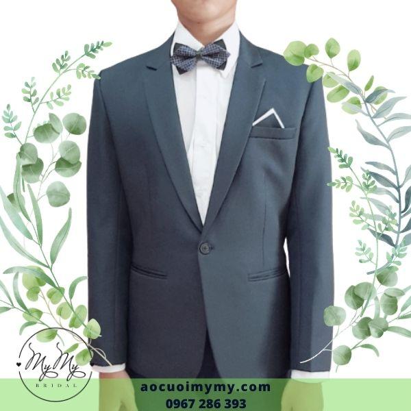 Áo vest chú rể đen size nhỏ