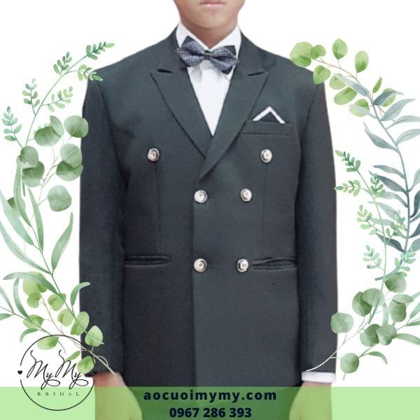 Áo vest chú rể mẫu 6 nút size nhỏ