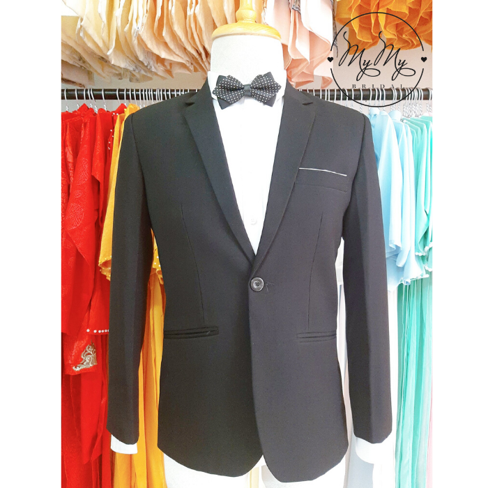 Áo vest chú rể đen trơn - cho thuê áo vest  rẻ chú rể Gò Vấp Hồ Chí Minh