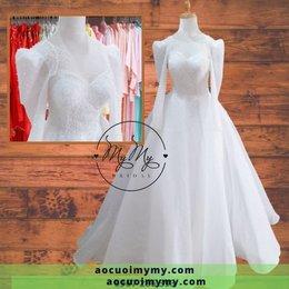 Váy cưới kết hạt pha lê
