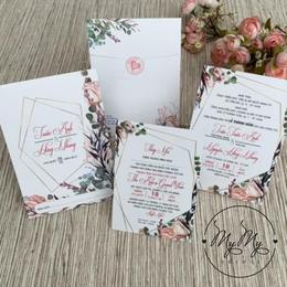 Thiêp cưới thiết kế hoa hồng leo - thiệp cưới My My