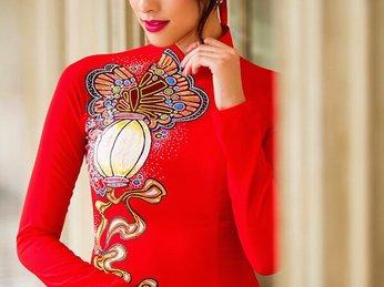 Áo dài đỏ xu hướng 2019  cô dâu không thể bỏ qua