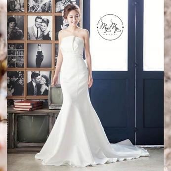 Áo cưới My My  thiết kế cúp ngực xếp ly đuôi cá
