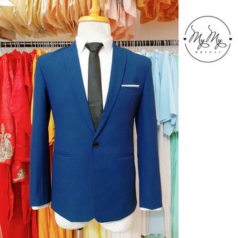 Áo vest chú rể màu xanh dương - cho thuê bán áo vest Nam Gò Vấp