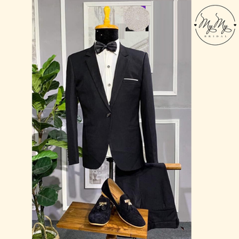 Áo Vest Nam màu đen - cho thuê áo vest  rẻ chú rể Gò Vấp Hồ Chí Minh