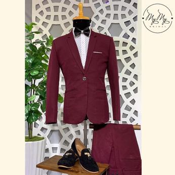 Áo vest chú rể màu rượu chát