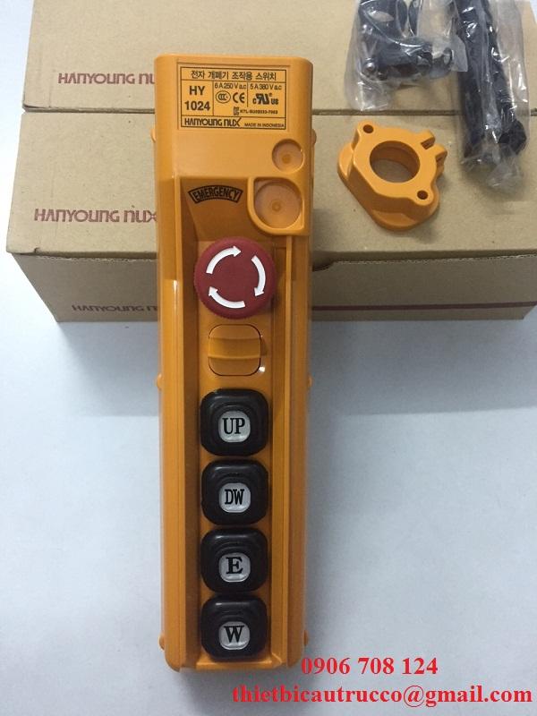 Tay bấm điều khiển cầu trục 4 nút HY-1024 SBB