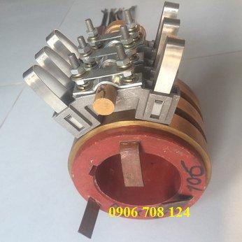 Cổ góp điện 3 pha kích thước 75x125x110 mm