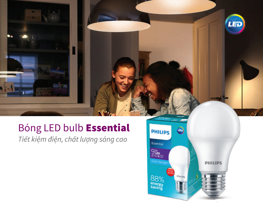 Bóng đèn Led Bulb Essential Philips 5W E27 A60