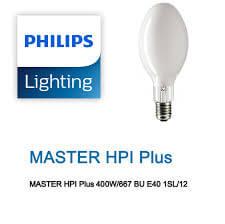 Bóng đèn cao áp Philips MASTER HPI Plus 400W/667 BU E40 1SL/6 dạng bầu
