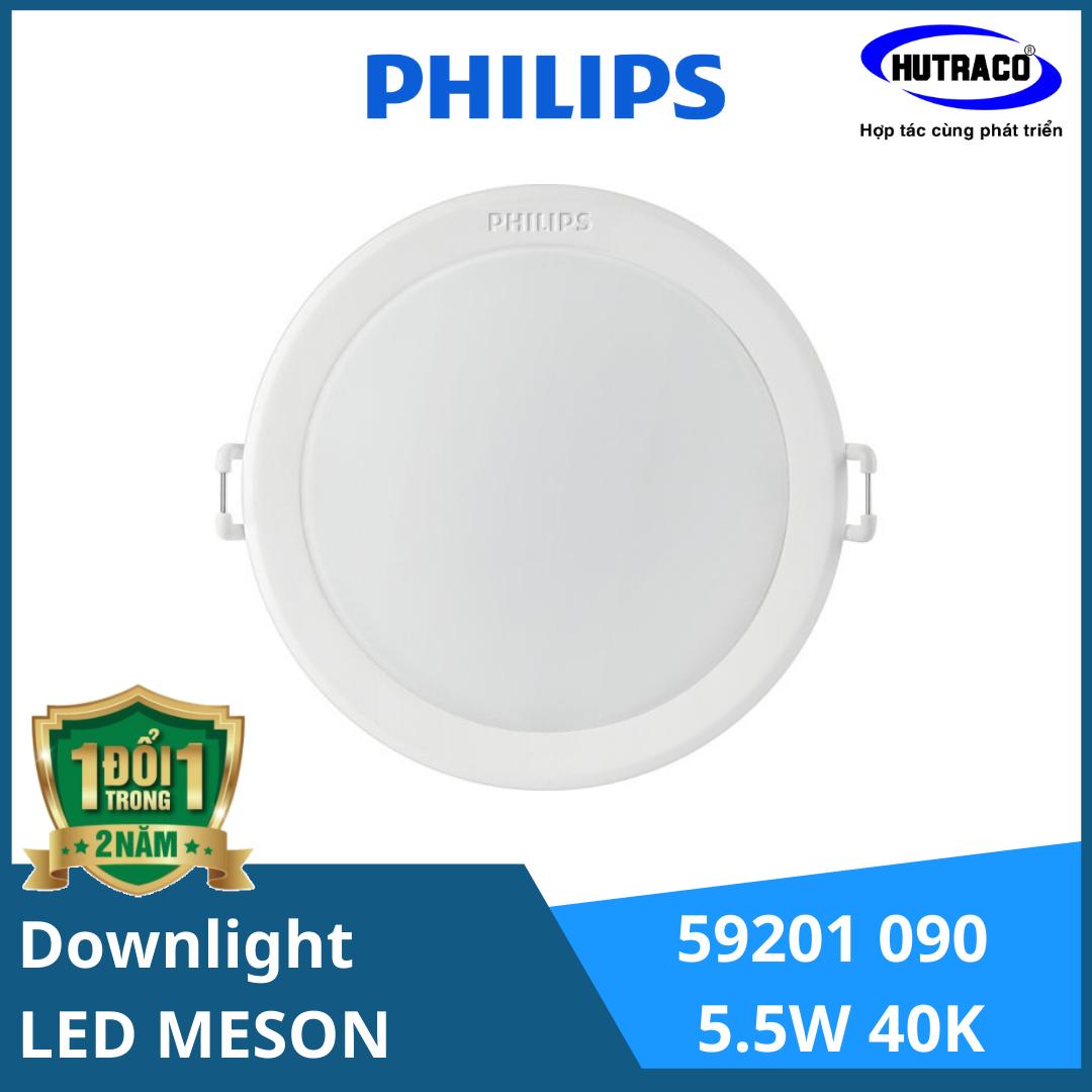 Combo 10 Đèn Downlight Âm Trần Led Philips 59201 MESON 090 5.5W [Tặng 2]