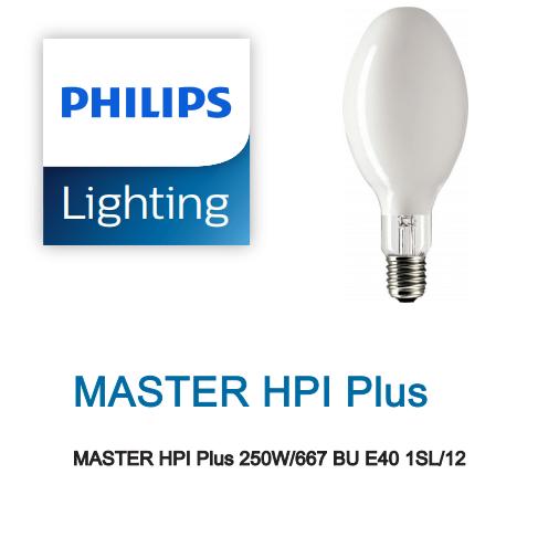 Bóng đèn cao áp Philips Metal Halide MASTER HPI Plus 250W/667 BU E40 1SL/12