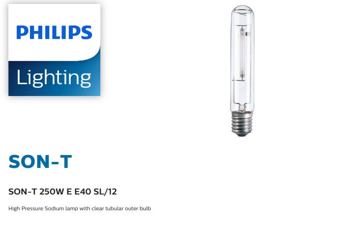 Bóng đèn cao áp Philips Sodium SON-T 250W E E40 SL