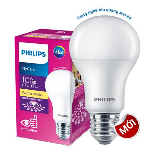 Bóng đèn Led Bulb Philips My Care 10W  3000K E27 230V A60