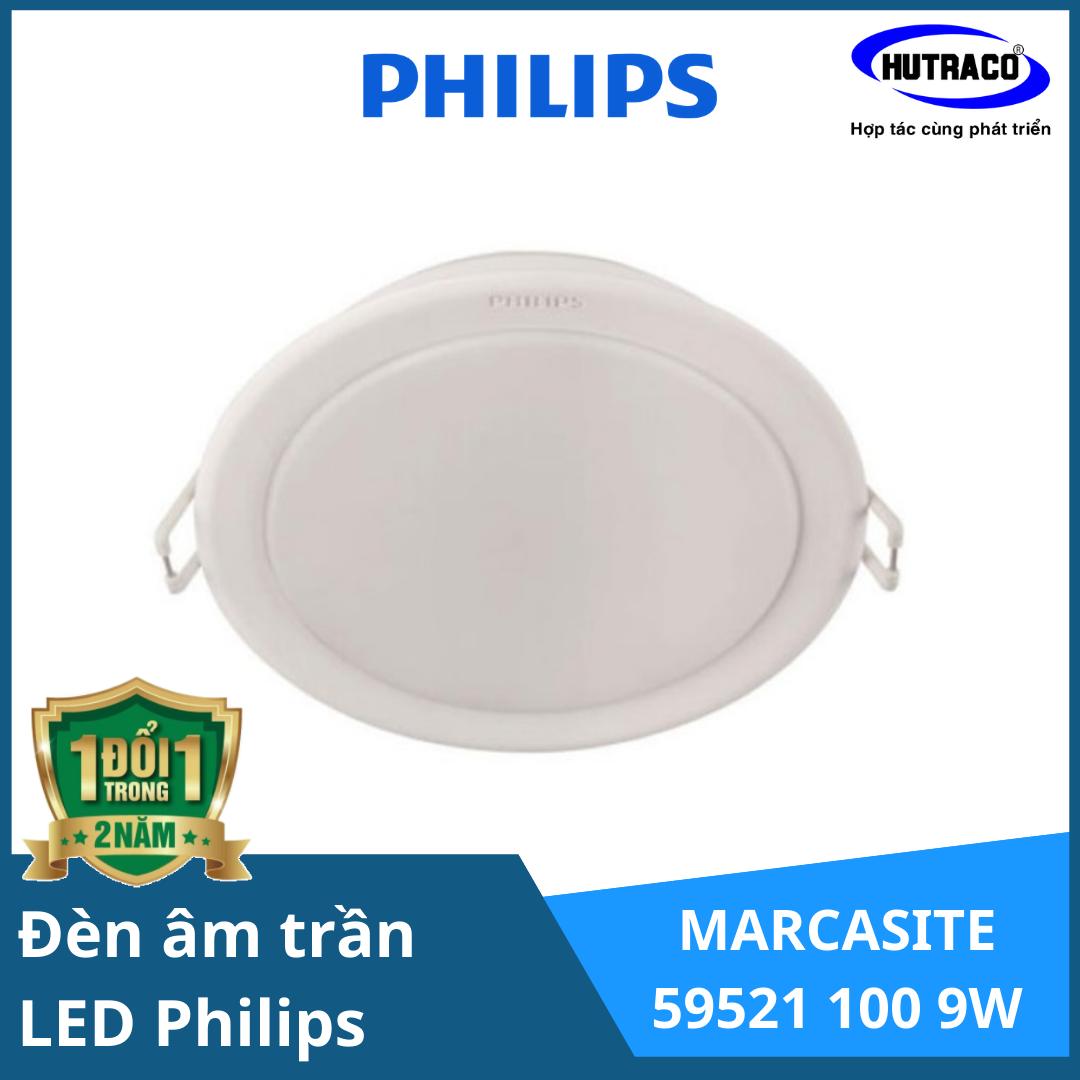 Đèn Downlight âm trần LED 9W Philips 59521 - 3000K/4000K/6500K 230V ¢100