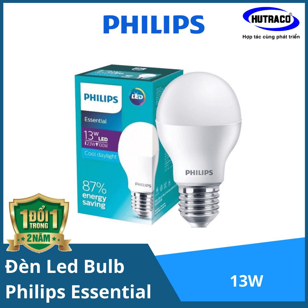 Bóng đèn Led Bulb Philips Essential ESS LED Bulb 13W E27 A60 - Chất lượng sáng cao với chi phí hợp lý